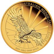 3000 Dollars - Elizabeth II (6th Portrait - Australian Wedge-Tailed Eagle) -  reverse