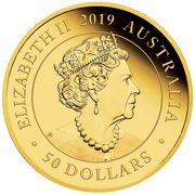 50 Dollars - Elizabeth II (6th Portrait - Australia Double Sovereign) – obverse