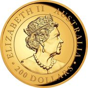 200 Dollars - Elizabeth II (6th Portrait - Wedge-tailed Eagle - Gold Bullion Coin) -  obverse