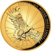 200 Dollars - Elizabeth II (6th Portrait - Wedge-tailed Eagle - Gold Bullion Coin) -  reverse