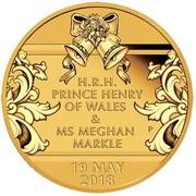 25 Dollars - Elizabeth II (4th Portrait - Royal Wedding - Gold Bullion Coin) -  reverse