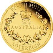 25 Dollars - Elizabeth II (6th Portrait - Australia Sovereign - Gold Bullion Coin) -  reverse