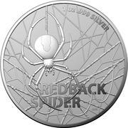 1 Dollar - Elizabeth II (6th Portrait - Redback Spider) -  reverse