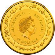 15 Dollars - Elizabeth II (4th Portrait - Year of the Dog - Gold Bullion Coin) -  obverse