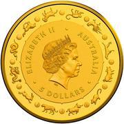 5 Dollars - Elizabeth II (4th Portrait - Year of the Dog - Gold Bullion Coin) -  obverse
