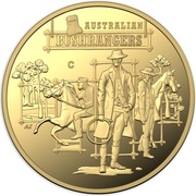 10 Dollars - Elizabeth II (4th Portrait - Australia's Bushrangers - Gold Proof) -  reverse
