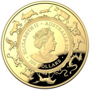 100 Dollars - Elizabeth II (6th Portrait - Year of the Rat - Gold Bullion Coin) -  obverse
