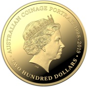 200 Dollars - Elizabeth II (6th Portrait - Australian Coinage Portrait  - Gold Proof) -  reverse
