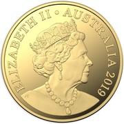 25 Dollars - Elizabeth II (6th Portrait - Australian Coinage Portrait 1998-2019 - Gold Proof) -  obverse
