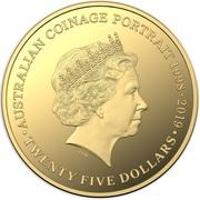 25 Dollars - Elizabeth II (6th Portrait - Australian Coinage Portrait 1998-2019 - Gold Proof) -  reverse