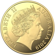 25 Dollars - Elizabeth II (4th Portrait - Year of the Pig - Gold Proof) – obverse