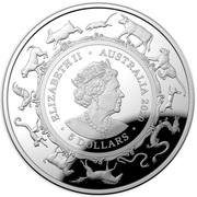 5 Dollars - Elizabeth II (6th Portrait - Year of the Rat) -  obverse