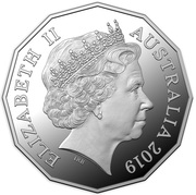 50 Cents - Elizabeth II (4th Portrait - International Year of Indigenous Languages; Silver Proof) -  obverse