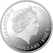5 Dollars - Elizabeth II (4th Portrait - Centenary of the Treaty of Versailles) -  obverse