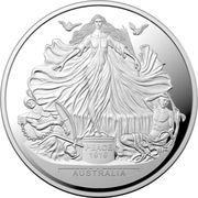 5 Dollars - Elizabeth II (4th Portrait - Centenary of the Treaty of Versailles) -  reverse