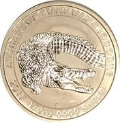 50 Cents - Elizabeth II (4th Portrait - Australian Saltwater Crocodile - Bullion Coin) – reverse