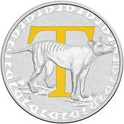 1 Dollar - Elizabeth II (4th Portrait - Alphabet Collection - Letter T - Silver Proof) -  reverse