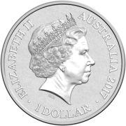 1 Dollar - Elizabeth II (4th Portrait - Alphabet Collection - Letter V - Silver Proof) – obverse