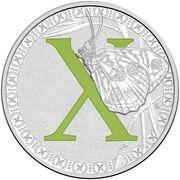 1 Dollar - Elizabeth II (4th Portrait - Alphabet Collection - Letter X - Silver Proof) -  reverse