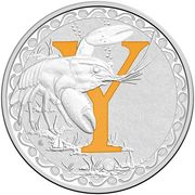 1 Dollar - Elizabeth II (4th Portrait - Alphabet Collection - Letter Y - Silver Proof) – reverse