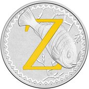 1 Dollar - Elizabeth II (4th Portrait - Alphabet Collection - Letter Z - Silver Proof) – reverse