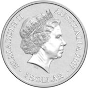 1 Dollar - Elizabeth II (4th Portrait - Alphabet Collection - Letter A - Silver Proof) -  obverse