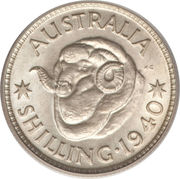 1 Shilling - George VI -  reverse