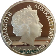 5 Dollars - Elizabeth II (4th Portrait - Finale - Year of the Outback) – obverse