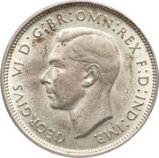 1 Florin - George VI – obverse