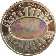 5 Dollars - Elizabeth II (4th Portrait -Finale - Australia's Volunteers) -  reverse