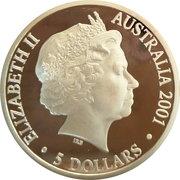 5 Dollars - Elizabeth II (4th Portrait - Finale - Centenary of Federation) -  obverse