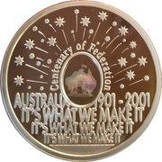 5 Dollars - Elizabeth II (4th Portrait - Finale - Centenary of Federation) -  reverse