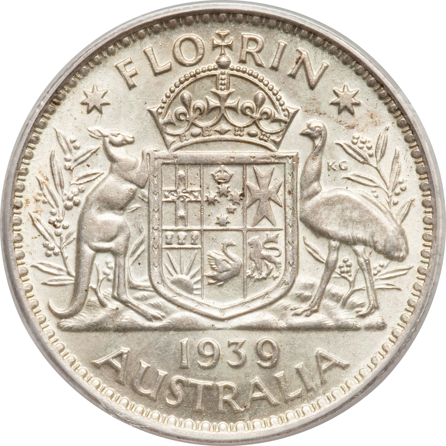 Kursmünzen, Einzelne Australia 1 Florin 1938 Unc Münzen International