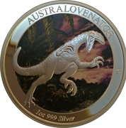 1 Dollar - Elizabeth II (4th Portrait - Dinosaur - Australovenator) – reverse