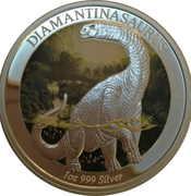 1 Dollar - Elizabeth II (4th Portrait - Dinosaur - Diamantinasaurus) – reverse