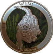 1 Dollar - Elizabeth II (4th Portrait - Dinosaur - Minmi) -  reverse