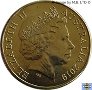 1 Dollar - Elizabeth II (4th Portrait - The Great Aussie Coin Hunt - Letter F) -  obverse