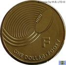 1 Dollar - Elizabeth II (4th Portrait - The Great Aussie Coin Hunt - Letter F) – reverse