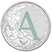 1 Dollar - Elizabeth II (4th Portrait - Alphabet Collection - Letter A - Silver Proof) -  reverse