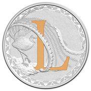 1 Dollar - Elizabeth II (4th Portrait - Alphabet Collection - Letter L - Silver Proof) -  reverse