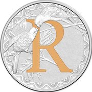 1 Dollar - Elizabeth II (4th Portrait - Alphabet Collection - Letter R - Silver Proof) -  reverse