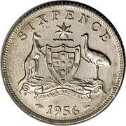 """6 Pence - Elizabeth II (with """"F:D:"""") – reverse"""