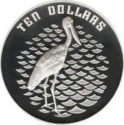 10 Dollars - Elizabeth II (3rd Portrait - Jabiru - Silver Proof) -  reverse