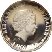 1 Dollar - Elizabeth II (4th Portrait - Koala High Relief) -  obverse