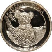 1 Dollar - Elizabeth II (4th Portrait - Koala High Relief) -  reverse