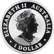 1 Dollar - Elizabeth II (6th Portrait - Welcome Stranger - Gilded) 2019 -  obverse