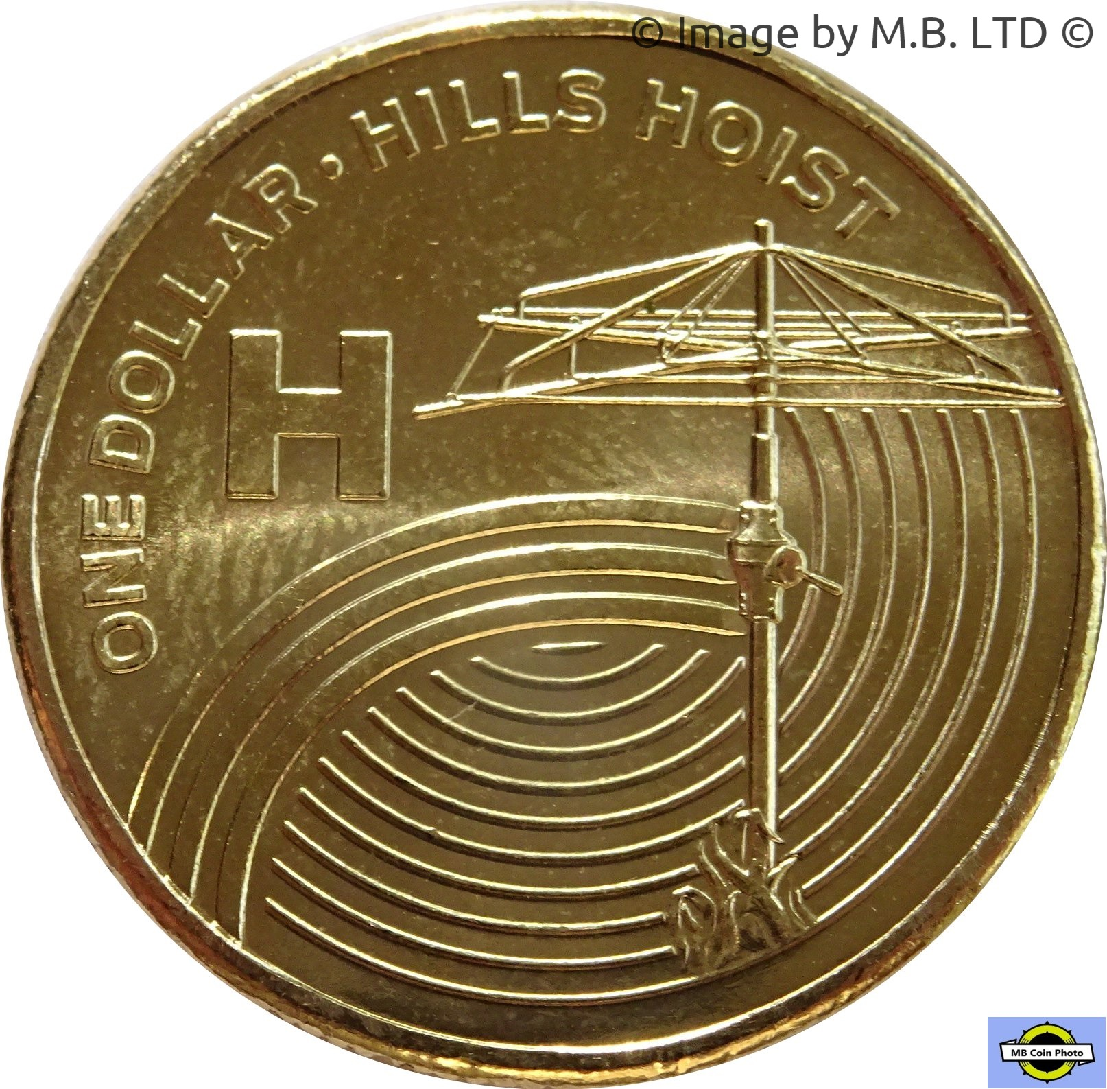 THE GREAT AUSSIE COIN HUNT 2019 ONE DOLLAR H for Hills Hoist uncirculated