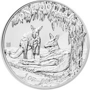 1 Dollar - Elizabeth II (4th Portrait - Australian Kangaroo 25th Anniversary) -  reverse