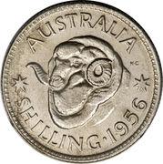 """1 Shilling - Elizabeth II (with """"F:D:"""") – reverse"""