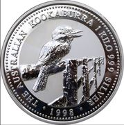 30 Dollars - Elizabeth II (3rd portrait - Australian Kookaburra - Silver Bullion Coin) -  reverse